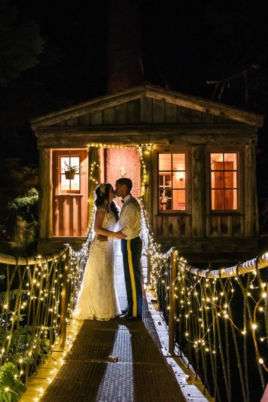 Whimsical Fall wedding at Treehouse Point