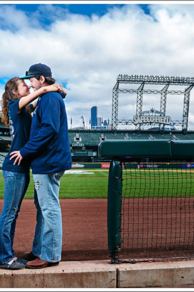 Couples Photography Seattle: Safeco Field