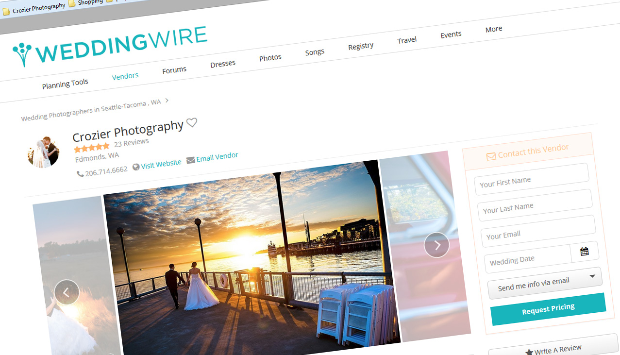 weddingwire page - Crozier Photography